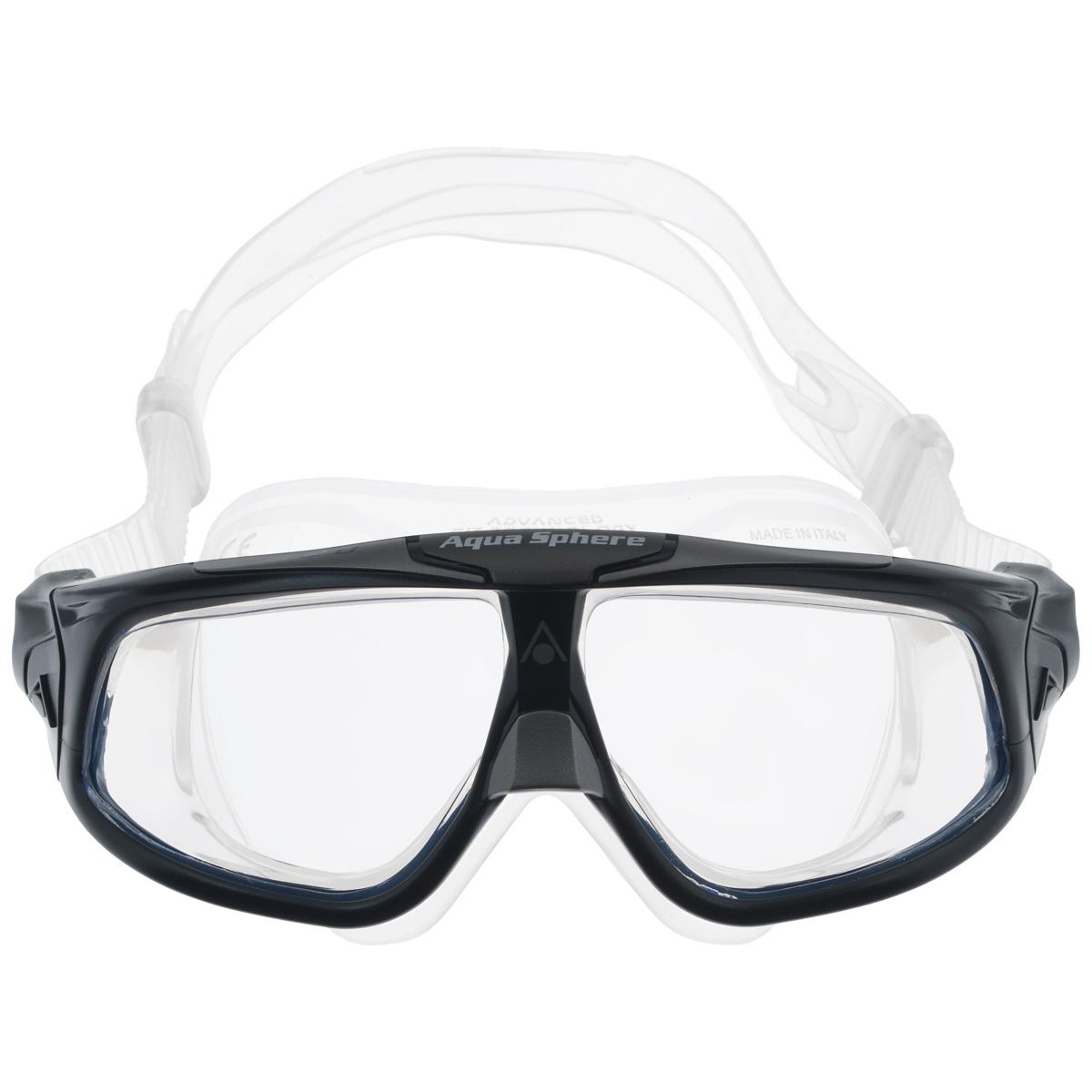 Очки для плавания Aqua Sphere Seal 2.0, цвет: черный, серебристыйTN 175100Aqua Sphere Seal 2.0 являются идеальными очками для тех, кто пользуется контактными линзами, так как они обеспечивают высокий уровень защиты глаз от внешних раздражителей, бактерий, соли и хлора.Особая форма линз обеспечивает панорамный обзор 180°. Очки дают 100% защиту от ультрафиолетового излучения. Специальное покрытие препятствует запотеванию стекол.Материал: силикон, plexisol.