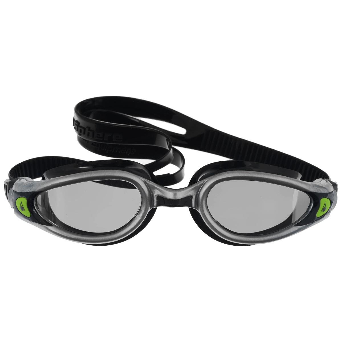 Очки для плавания Aqua Sphere Kaiman Exo, зеркальные линзы, цвет: серебристый, черный цена