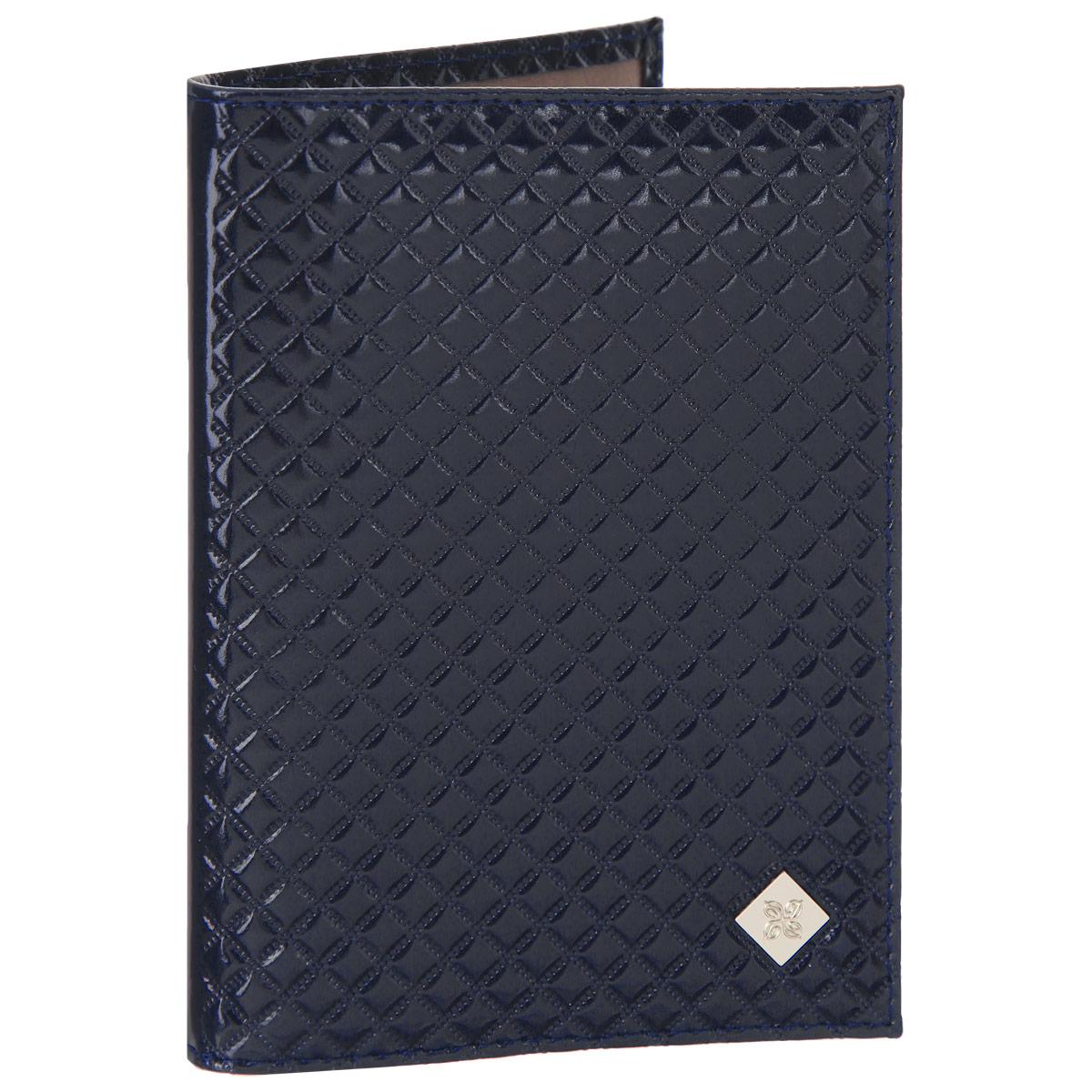 Обложка для паспорта женская Dimanche Rich, цвет: синий. 580/3580/3Обложка для паспорта Dimanche Rich выполнена из натуральной кожи, декорирована фактурным тиснением и брендовым металлическим значком на лицевой стороне обложки.Обложка на подкладке с пластиковыми клапанами.Обложка не только поможет сохранить внешний вид ваших документов и защитить их от повреждений, но и станет стильным аксессуаром, идеально подходящим вашему образу. Обложка для паспорта стильного дизайна может быть достойным и оригинальным подарком.