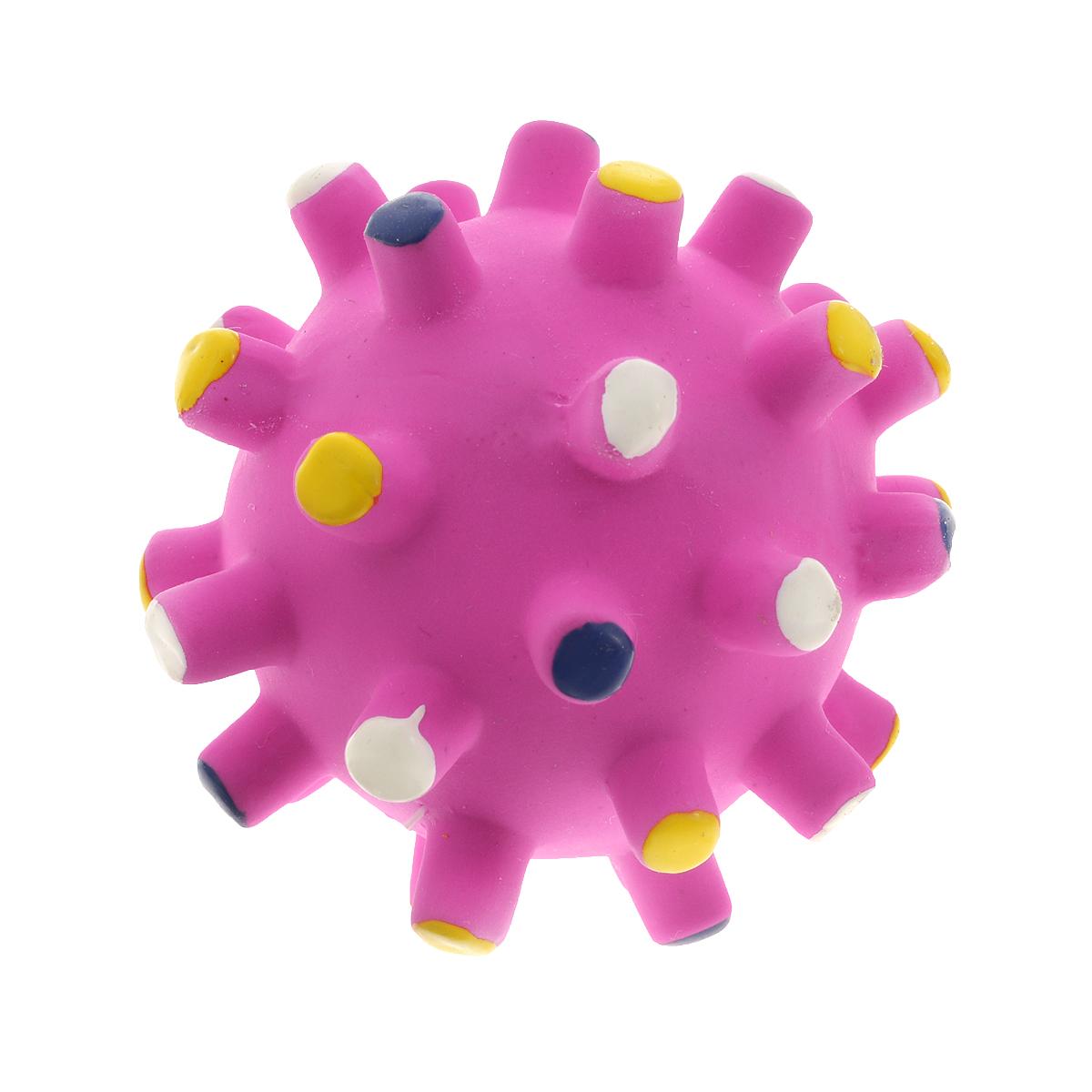 Игрушка для щенков I.P.T.S. Мяч, цвет: малиновый, 7 см16375/620853 малиновыйИгрушка для щенков I.P.T.S. Мяч представляет собой латексный мячик с выпуклостями. Жуя мягкий мяч, ваш питомец не повредит себе зубы и десны. Эластичный мяч способствует тренировке челюстей. Способствует очищению зубов и десен от налета и остатков пищи.