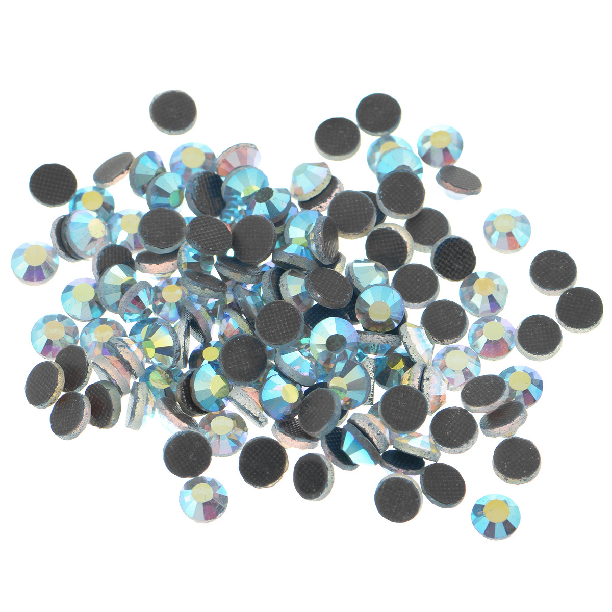 """Набор термоклеевых страз """"Cristal"""", изготовленный из высококачественного акрила, позволит вам украсить одежду, аксессуары или текстиль.   Яркие стразы имеют плоское дно и круглую поверхность с гранями. Дно термоклеевых страз уже обработано особым клеем, который под воздействием высоких температур начинает плавиться, приклеиваясь, таким образом, к требуемой поверхности. Чаще всего их используют в текстильной промышленности: стразы прикладывают к ткани и проглаживают утюгом с обратной стороны. Также можно использовать специальный паяльник. Украшение стразами поможет сделать любую вещь оригинальной и неповторимой. Диаметр стразы: 4,8 мм.    Уважаемые клиенты!  Обращаем ваше внимание на возможное варьирование количества страз в упаковке, +-5 шт."""