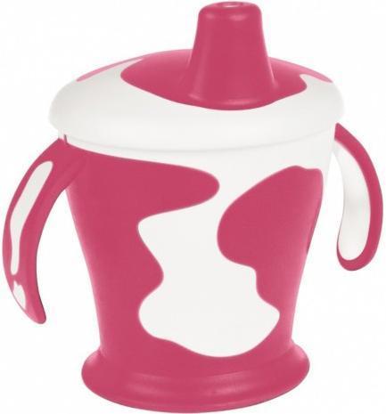 Canpol Babies Поильник-непроливайка Коровка с ручками цвет розовый 250 мл