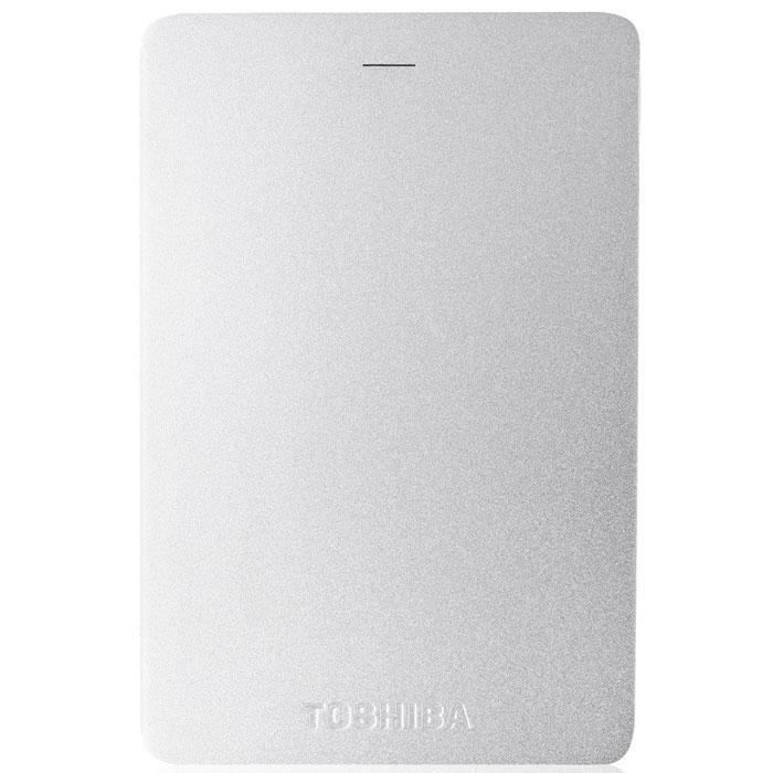 Toshiba Canvio Alu 1TB, Silver внешний жесткий диск (HDTH310ES3AA)HDTH310ES3AAХраните важные данные надежно на внешнем жестком диске Toshiba Canvio Alu! Доступ к записанной информации осуществляется быстро и легко при помощи подключения USB 3.0. С его элегантным алюминиевым корпусом в различных цветовых вариациях вы приобретаете стильное и яркое решение для хранения нужных файлов. Диск необычайно прост в использовании, встроенное программное обеспечение резервного копирования NTI позволяет делать регулярные автоматические резервные копии данных для дополнительной безопасности.