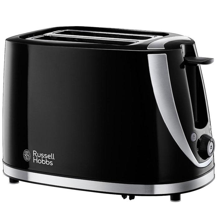 Russell Hobbs 21410-56 Stylis, Black тостер21410-56Тостер Russell Hobbs 21410-56 Stylis на 2 тоста, выполненный в черном корпусе и акцентами из нержавеющей стали обладает экстра-широкими слотами для поджаривания толстых ломтиков хлеба, булочек или багетов. Устройство оснащено функцией экстра-подъема, что позволит контролировать процесс поджаривания без прерывания цикла приготовления. Кроме того, в тостере предусмотрена функция разморозки и разогрева.Стильный черный тостер со стальными акцентамиЭкстра широкие слоты с функцией экстра подъема: идеально подходит для поджаривания толстых ломтиков хлеба, чайного пирога или булочек Световая индикацияСъемный поддон для крошекРегулируемая степень поджариванияРешетка для разогрева