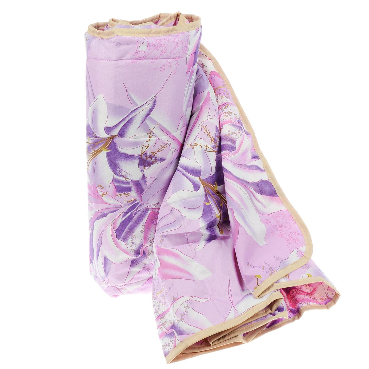Одеяло летнее OL-Tex Miotex, наполнитель: полиэфирное волокно Holfiteks, цвет: сиреневый, 172 х 205 смМХПЭ-18-1 сиреневыйЛегкое летнее одеяло OL-Tex Miotex создаст комфорт и уют во время сна. Чехол выполнен из полиэстера и оформлен красочным цветочным рисунком. Внутри - современный наполнитель из полиэфирного высокосиликонизированного волокна Holfiteks, упругий и качественный. Прекрасно держит тепло. Одеяло с наполнителем Holfiteks легкое и комфортное. Даже после многократных стирок не теряет свою форму, наполнитель не сбивается, так как одеяло простегано и окантовано. Не вызывает аллергии. Holfiteks - это возможность легко ухаживать за своими постельными принадлежностями. Можно стирать в машинке, изделия быстро и полностью высыхают - это обеспечивает гигиену спального места при невысокой цене на продукцию. Рекомендации по уходу:- Ручная и машинная стирка при температуре 30°С.- Не гладить.- Не отбеливать. - Нельзя отжимать и сушить в стиральной машине.- Сушить вертикально. Размер одеяла: 172 см х 205 см. Материал чехла: 100% полиэстер. Материал наполнителя: полиэфирное высокосиликонизированное волокно Holfiteks. Плотность: 100 г/м2.