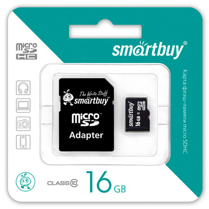 Zakazat.ru SmartBuy microSDHC Сlass 10 16GB карта памяти (с адаптером SD)