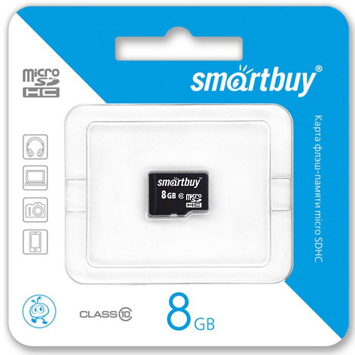 SmartBuy microSDHC Сlass 10 8GB карта памяти (без адаптера)