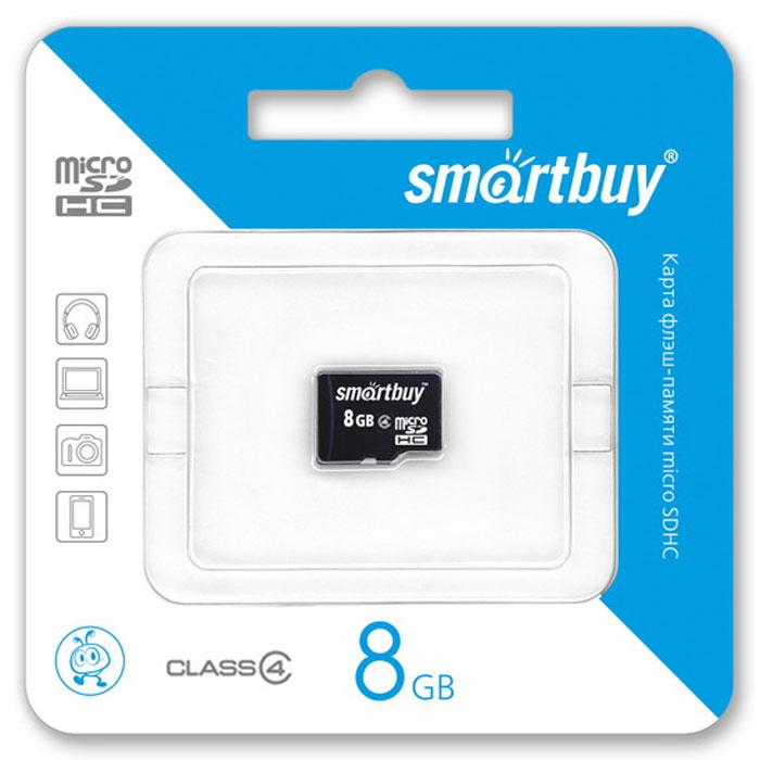 SmartBuy microSDHC Сlass 4 8GB карта памяти (без адаптера) карта памяти canon