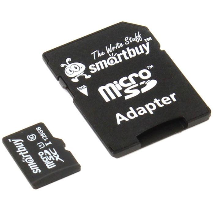 SmartBuy microSDXC Сlass 10 128GB карта памяти (с адаптером SD) карта памяти other njm4560m te1 njr 2 37
