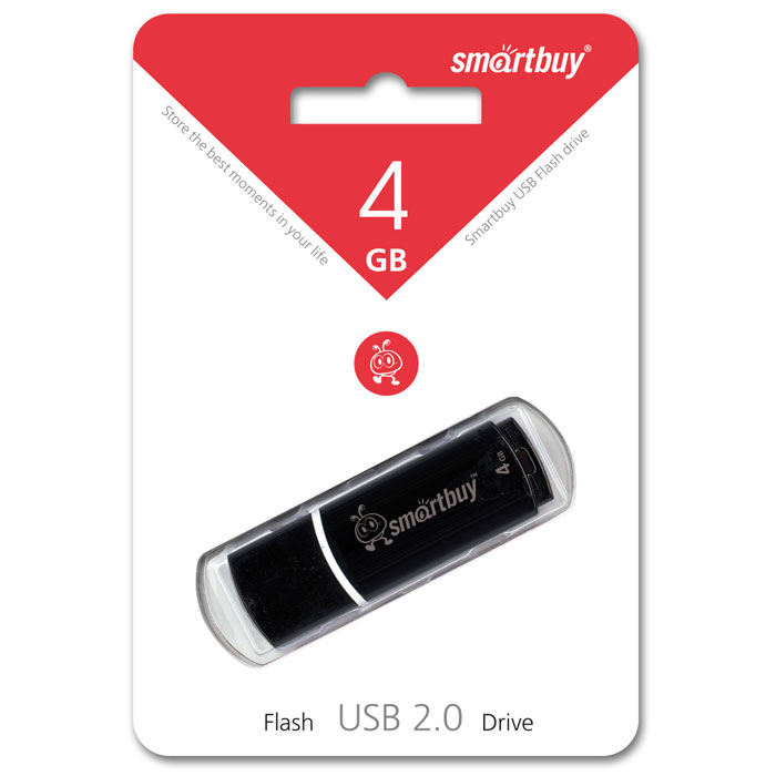 SmartBuy Crown 4GB, Black USB-накопитель
