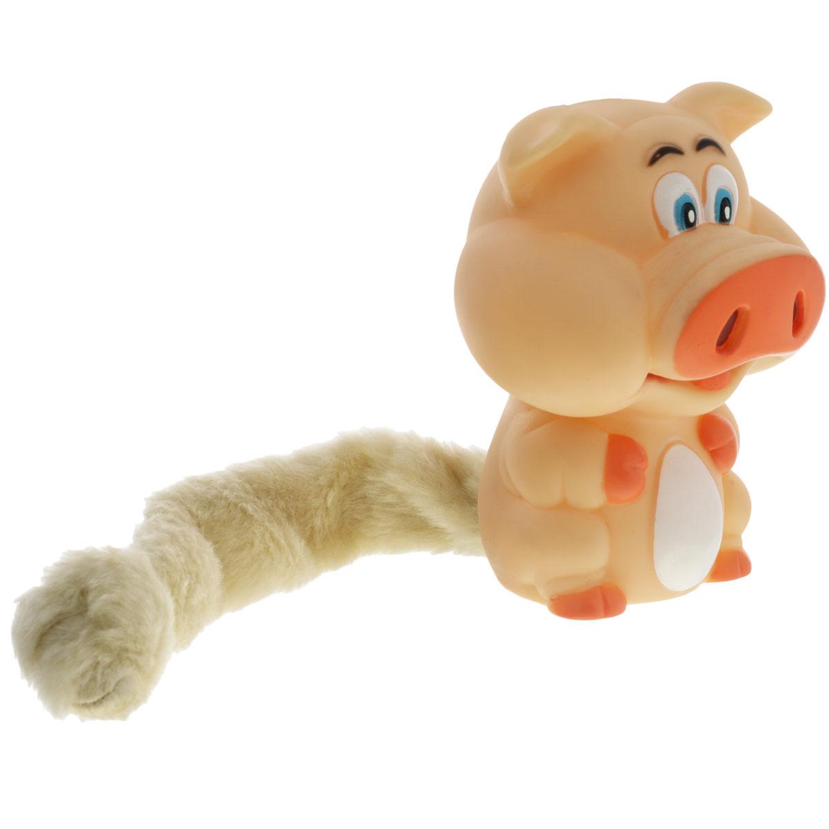 Игрушка для собак Aveva Кабанчик13307Игрушка для собак Aveva Кабанчик, выполненная в виде забавного кабана с плюшевым хвостом, изготовлена из резины. Такая игрушка позволит весело провести время вашему питомцу, а также поможет вам сохранить в целости личные вещи и предметы интерьера. Яркая игрушка привлечет внимание вашего любимца, не навредит здоровью и займет его на долгое время. Длина хвоста игрушки: 20 см.