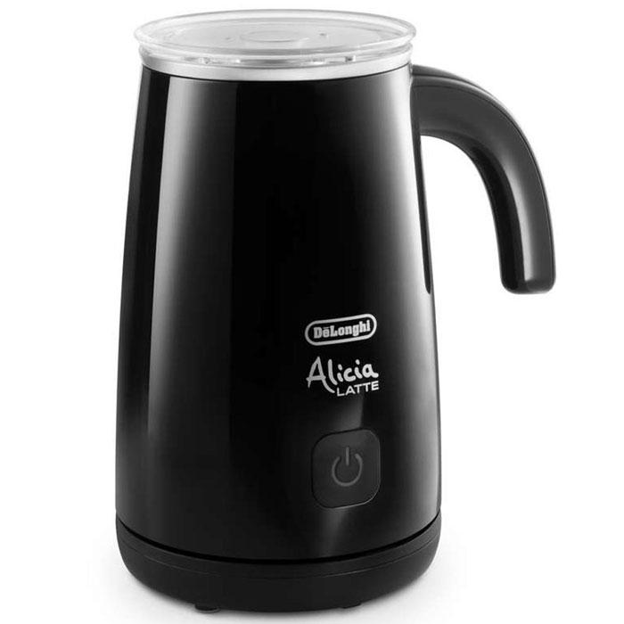 DeLonghi EMF2 Alicia, Black вспениватель молокаEMF2.BKНастольный электрический вспениватель молока DeLonghi EMF2 Alicia предназначен для приготовления пенки для капучино. Стильный глянцевый корпус и высокая производительность позволяют моментально приготовить совершенную молочную пену, горячую или холодную, а также подогреть молоко.Вместимость чаши для молока: мин. 100 мл, макс. 250 мл Корпус: глянцевое пластиковое покрытие, подставка: матовое пластиковое покрытие Автоматическое выключение Магнитный привод обеспечивает движение венчика Съемный венчик удобно мытьСъемная прозрачная крышка с силиконовым уплотнителем Подставка позволяет вращать прибор на 360°Антипригарное покрытие чаши Напряжение/Частота переменного тока :220/240 В - 50/60 Гц