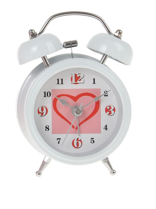 Часы-будильник Sima-land Сердце, цвет: белый. 720801720801Как же сложно иногда вставать вовремя! Всегда так хочется поспать еще хотя бы 5 минут и бывает, что мы просыпаем. Теперь этого не случится! Яркий, оригинальный будильник Sima-land поможет вам всегда вставать в нужное время и успевать везде и всюду. Время показывает точно и будит в установленный час. Будильник украсит вашу комнату и приведет в восхищение друзей. На задней панели будильника расположены переключатель включения/выключения механизма и два колесика для настройки текущего времени и времени звонка будильника. Также будильник оснащен кнопкой, при нажатии и удержании которой, подсвечивается циферблат.Будильник работает от 1 батарейки типа AA напряжением 1,5V (не входит в комплект).
