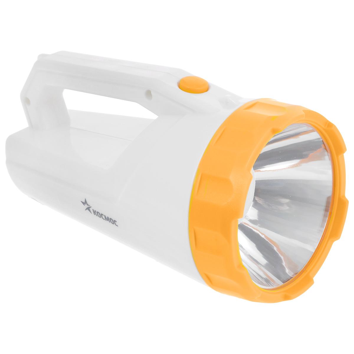 Фонарь-прожектор аккумуляторный Космос, цвет: белый. Модель 9191