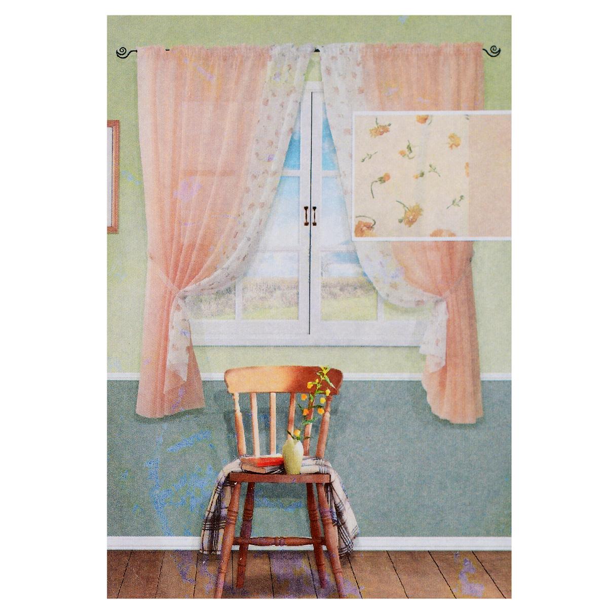 Комплект штор Kauffort Розанна, на ленте, цвет: персиковый, высота 170 смUN123871155Комплект Kauffort Солей состоит из двух штор и двух подхватов. Полотно штор выполнено из легкого полиэстера персикового цвета и декорировано вставкой из белого полиэстера с цветочным рисунком. Подхваты выполнены из легкого полиэстера персикового цвета.Качественный материал, оригинальный дизайн и приятная цветовая гамма привлекут к себе внимание и органично впишутся в интерьер помещения. Шторы оснащены лентой для красивой сборки.Комплект штор Kauffort Розанна станет великолепным украшением любого окна. В комплект входит:Штора - 2 шт. Размер (Ш х В): 177 см х 170 см. Подхват - 2 шт. Размер (Ш х Д): 150 см х 9 см.