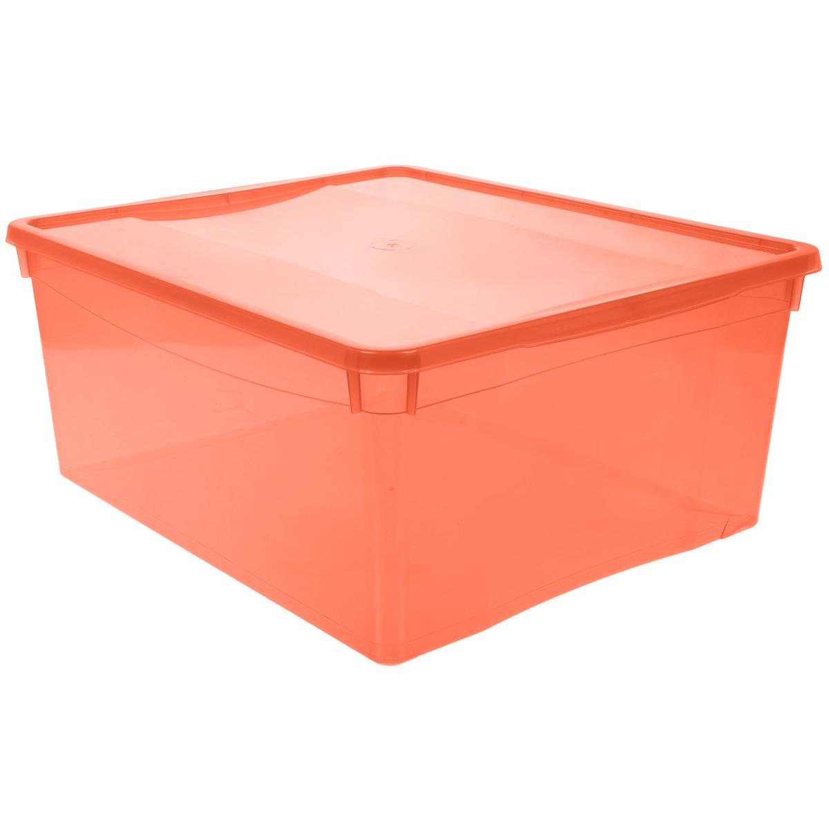 Ящик универсальный Бытпласт Колор Стайл с крышкой, цвет: красный, 18 лС12497 красныйУниверсальный ящик Бытпласт Колор Стайл выполнен из полипропилена и предназначен для хранения различных предметов. Ящик оснащен удобной крышкой.Очень функциональный и вместительный, такой ящик будет очень полезен для хранения вещей или продуктов, а также защитит их от пыли и грязи.