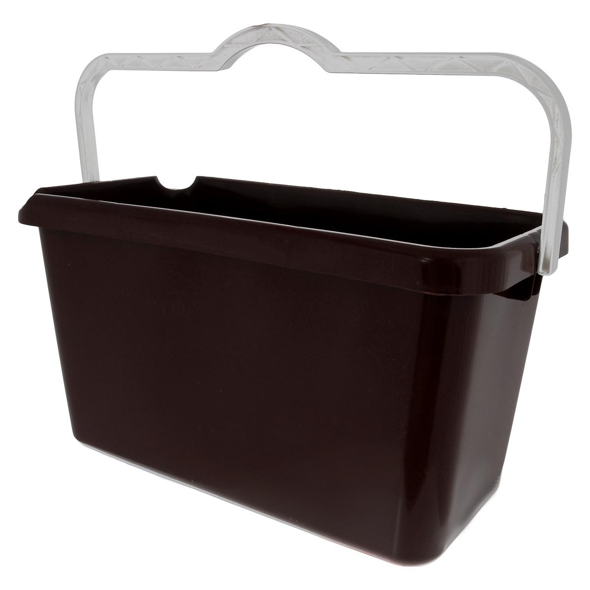 Ведро Альтернатива Эконом, прямоугольное, цвет: коричневый, белый, 14 лM3078 коричневыйВедро Альтернатива Эконом изготовлено из высококачественного цветного пластика прямоугольной формы. Оно легче железного и не подвержено коррозии. Ведро оснащено удобной пластиковой ручкой и двумя носиками для удобного выливания воды. Такое ведро станет незаменимым помощником в хозяйстве.