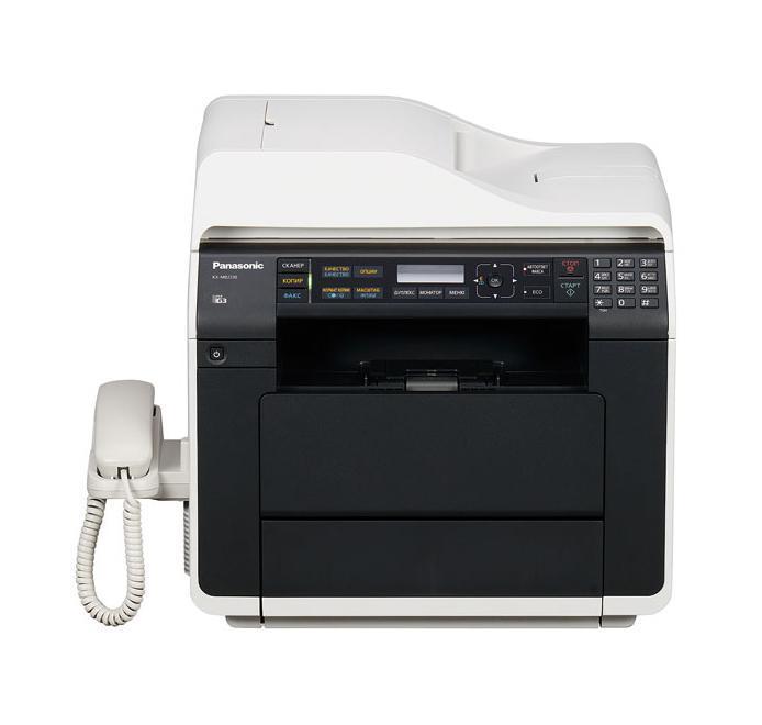 Panasonic KX-MB2270RU МФУKX-MB2270RUФункциональное и мощное МФУ Panasonic KX-MB2270RU создано для офиса! Устройство имеет компактные размеры и не занимает много места, однако служит заменой целого ряда устройств. Оно одновременно сочетает в себе функции копировального аппарата, сканера, факса, принтера и телефона. Данная модель поддерживает также интерфейсы USB и Wi-Fi. МФУ Panasonic KX-MB2270RU обладает высокой скоростью печати - 28 страниц в минуту и довольно простым управлением с выводом информации на ЖК-дисплей. Устройство также оснащено автоматическим предупреждением о необходимости замены картриджа тонера.
