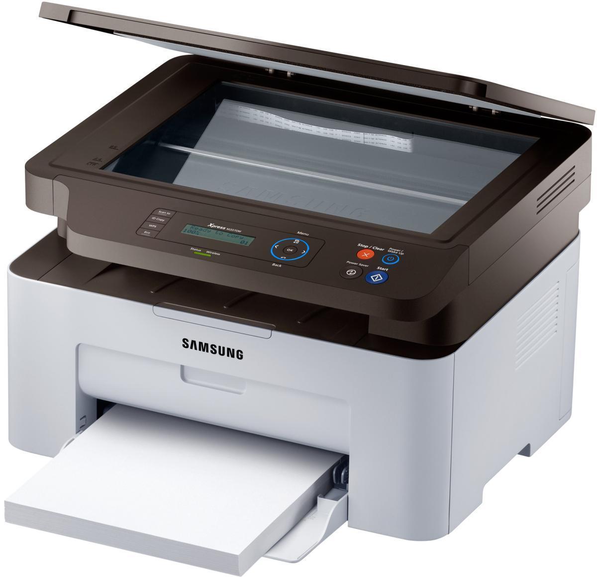 Samsung SL-M2070W МФУSL-M2070W/FEV Многофункциональное устройство Samsung M2070W является устройством типа 3-в-1, которое обеспечит максимально высокую эффективность работы любого офиса. Благодаря функциям печати, копирования и сканирования МФУ M2070W предлагает больше гибкости с меньшими усилиями. Целый ряд инновационных функций, таких как двухстороннее копирование удостоверений, копирование нескольких страниц на один лист, сканирование изображений для последующей отправки электронной почтой обеспечат вас всем необходимым для успешной работы в современном деловом миреСтруйный или лазерный принтер: какой лучше? Статья OZON Гид