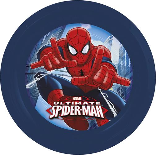 Disney Тарелка Спайдермен диаметр 21,5 см52412Тарелка выполнена из высококачественного пищевого пластика с изображением персонажей популярного мультфильма. Диаметр: 21,5 см.