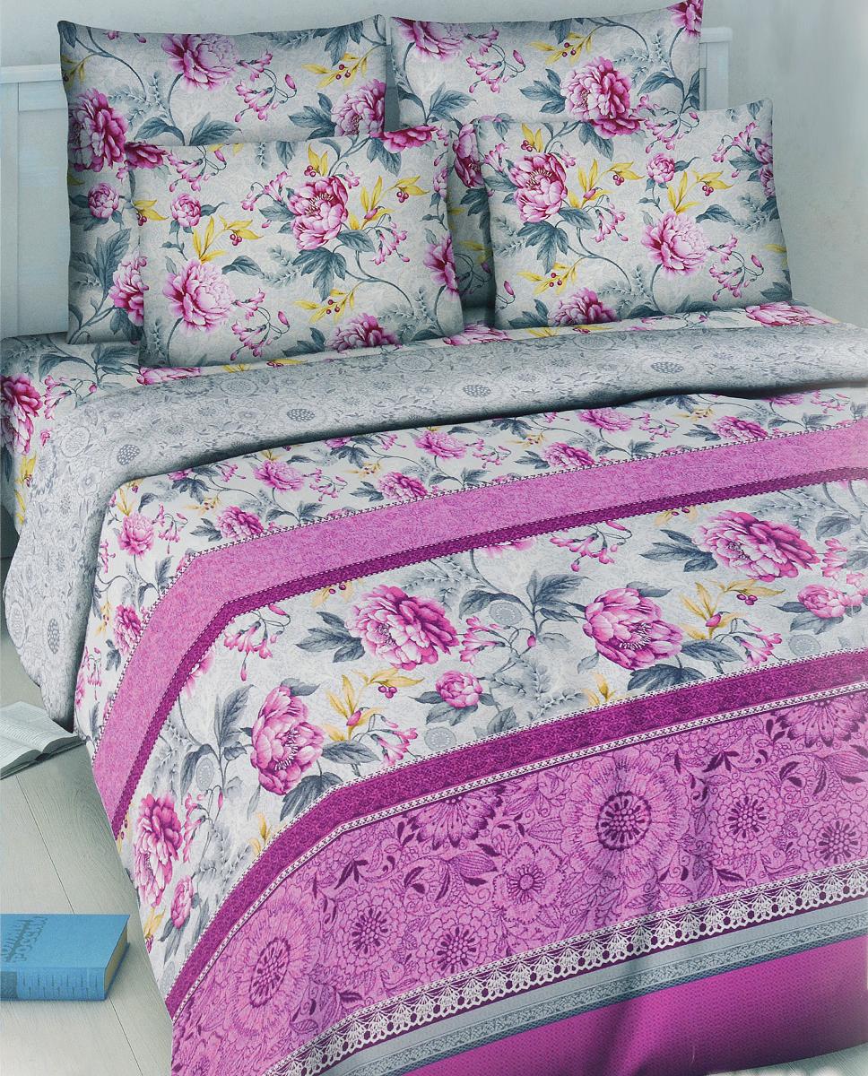 Комплект белья Василиса Кружевной стиль, 1,5-спальный, наволочки 70х70, цвет: розовый, серый5031_2/1,5Комплект постельного белья Василиса Кружевной стиль состоит из пододеяльника, простыни и двух наволочек. Дизайн - крупные сочные цветы. Белье изготовлено из бязи - гипоаллергенного, экологичного, высококачественного, крупнозакрученного волокна, благодаря чему эта ткань мягкая, нежная на ощупь и очень прочная, не образует катышков на поверхности. При соблюдении рекомендаций по уходу, это белье выдерживает много стирок (более 70), не линяет и не теряет свою первоначальную прочность. Уникальная ткань обеспечивает легкую глажку.