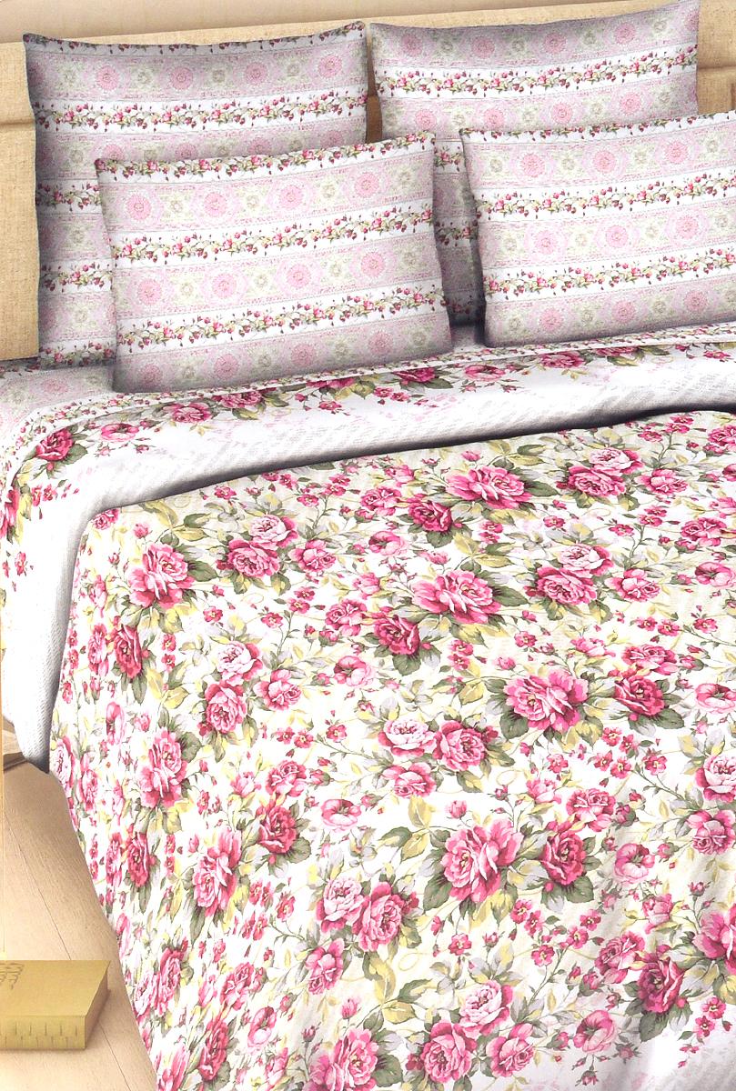 Комплект белья Василиса Розовый сон, 2-спальный, наволочки 70х70326_1/2Комплект постельного белья Василиса Розовый сон состоит из пододеяльника, простыни и двух наволочек. Дизайн - крупные сочные цветы. Белье изготовлено из поплина (хлопка) - гипоаллергенного, экологичного, высококачественного, крупнозакрученного волокна, благодаря чему эта ткань мягкая, нежная на ощупь и очень прочная, не образует катышков на поверхности. При соблюдении рекомендаций по уходу, это белье выдерживает много стирок (более 70), не линяет и не теряет свою первоначальную прочность. Уникальная ткань обеспечивает легкую глажку.