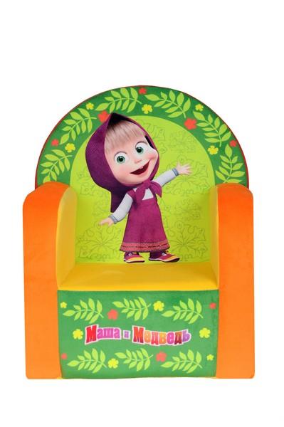 СмолТойс Мягкая игрушка Кресло Маша и Медведь цвет желтый