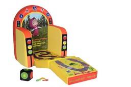 """Детское развивающие кресло СмолТойс с изображениями героев известного мультфильма """"Маша и Медведь"""" не только предложит вашему ребенку увлекательную игру, которая обучит его основам счета, но и станет отличным дополнением интерьера детской и любимой игрушкой вашего ребенка.Кресло мягконабивное и не имеет твердых элементов и каркаса, что делает его полностью безопасным. Сделано из экологически чистых материалов высочайшего качества.Габариты: 45 x 25 х 45 см.Детям от 3 лет до 6 лет."""