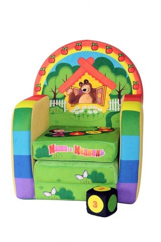 СмолТойс Мягкая игрушка Развивающее кресло Маша и Медведь Счет1968/ЖЛ/53Детское развивающие кресло с изображениями героев известного мультфильма Маша и Медведь не только предложит вашему ребенку увлекательную игру, которая обучит его основам счета, но и станет отличным дополнением интерьера детской и любимой игрушкой вашего ребенка.Кресло мягконабивное и не имеет твердых элементов и каркаса, что делает его полностью безопасным. Сделано из экологически чистых материалов высочайшего качества.Габариты: 45 x 25 х 45 см.Детям от 3 лет до 6 лет.