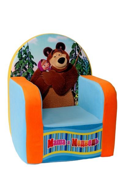 Детская мебель - это забавная мягкая игрушка, на которой можно посидеть и  поиграть. Кресло с гипоаллергенным наполнителем невероятно комфортное и  стильное. Оно идеально впишется в интерьер детской комнаты. Забавная  мелодия из любимого мультфильма доставит большую радость вашему ребенку.  Устойчивость кресла обеспечивается широкой площадью соприкосновения с  полом. Мягкое кресло не имеет деревянных и прочих жёстких вставок, поэтому вы  можете быть спокойны за безопасность вашего малыша. Материал -  трикотажное полотно (мех), наполнитель - пенополиуретан. Размер: 53 х 41 х 32 см.