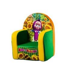 СмолТойс Кресло Маша и Медведь с чехлом с музыкальным элементом 53 х 41 х 32 см2045М/ЗЛ/53Яркое мягкое кресло, оформленное изображением Маши, станет прекрасным украшением интерьера детской комнаты, а также любимой вещью вашего малыша. Съемный чехол кресла выполнен из хлопка и полиэстера, застегивается на застежку-молнию. Наполнителем является поролон.Это оригинальное кресло не оставит равнодушным не только ребенка, но и взрослого и станет отличным подарком для вашего малыша.