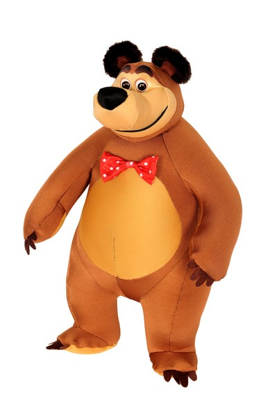 Игрушка антистресс Маша и Медведь в форме героя Миша 53*23  смолтойс мяч антистресс маша и медведь