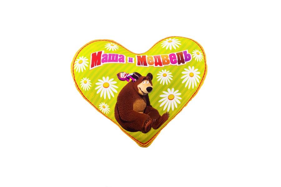 СмолТойс Подушка-антистресс Сердечко Маша и Медведь