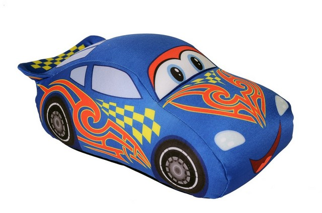 СмолТойс Игрушка-антистресс Гоночная машинка цвет: синий 33 x 23 см антистрессовые игрушки в уфе
