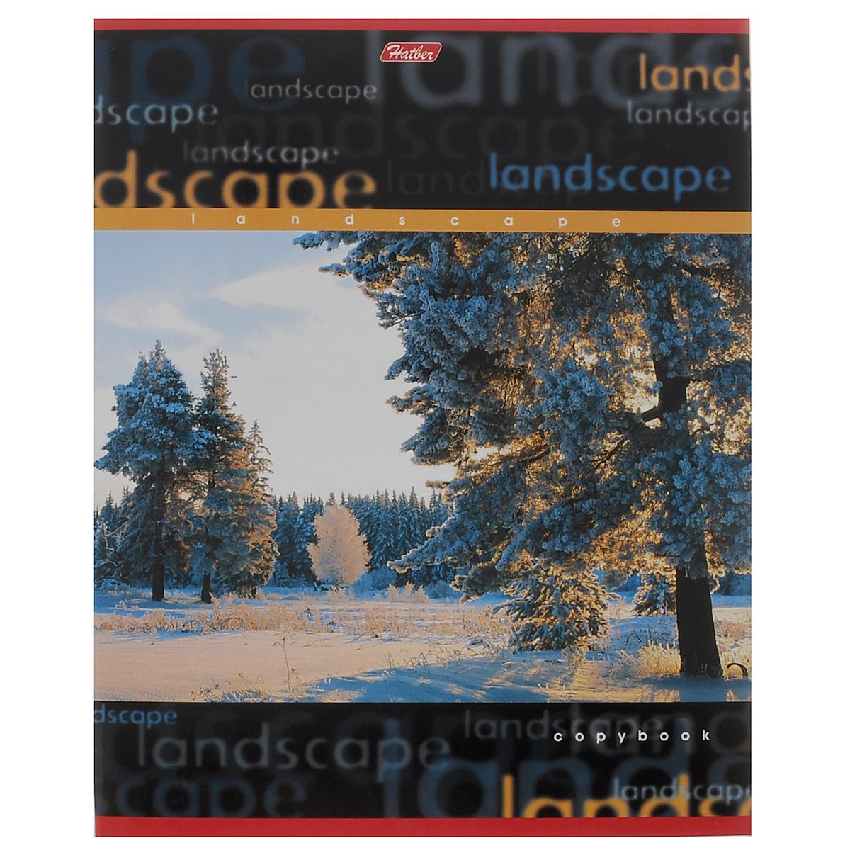 Тетрадь в линейку Hatber Пейзажи. Зимний лес, 96 листов96Т5B2_черныйТетрадь Hatber Пейзажи. Зимний лес отлично подойдет для занятий школьнику или студенту.Обложка, выполненная из плотного мелованного картона, позволит сохранить тетрадь в аккуратном состоянии на протяжении всего времени использования. Лицевая сторона оформлена красочным изображением зимнего пейзажа.Внутренний блок тетради, соединенный металлическими скрепками, состоит из 96 листов белой бумаги в голубую линейку с полями.