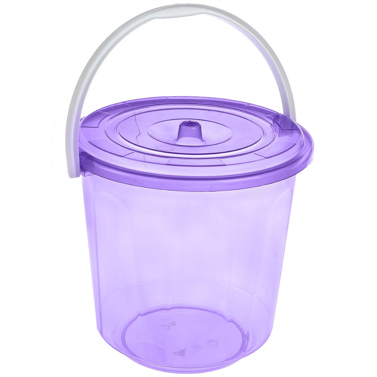 Ведро Альтернатива Хозяюшка, с крышкой, цвет: фиолетовый, 5 лМ1178_фиолетовыйКруглое ведро Альтернатива Хозяюшка изготовлено из высококачественного пластика. Оно легче железного и не подвержено коррозии. Ведро оснащено удобной пластиковой ручкой и плотно прилегающей крышкой.Такое ведро станет незаменимым помощником в хозяйстве.Диаметр (по верхнему краю): 21 см.Высота (без учета крышки): 21 см.