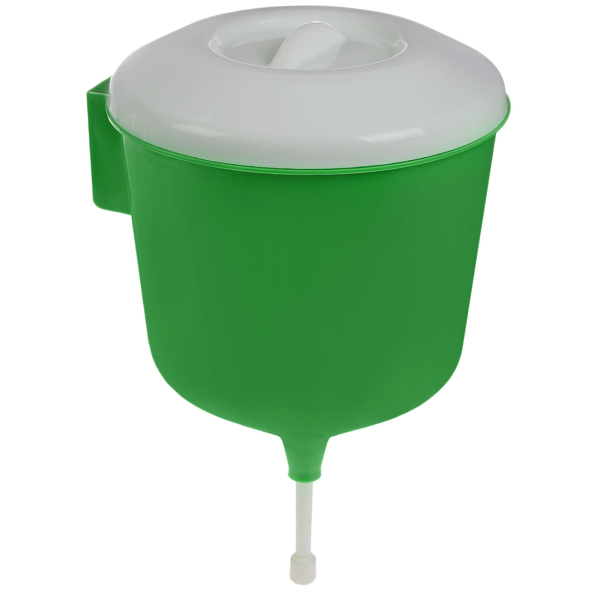 Рукомойник Альтернатива Дачник, цвет: зеленый, белый, 3 лМ1157_зеленыйРукомойник Альтернатива Дачник изготовлен из пластика. Он предназначен для умывания в саду или на даче. Яркий и красочный, он отлично впишется в окружающую обстановку. Петли обеспечивают вертикальное крепление рукомойника. Рукомойник оснащен крышкой, которая предотвращает попадание мусора. Рукомойник Альтернатива Дачник надежный и удобный в использовании.Диаметр рукомойника: 19 см. Высота рукомойника (с учетом крышки): 30 см.