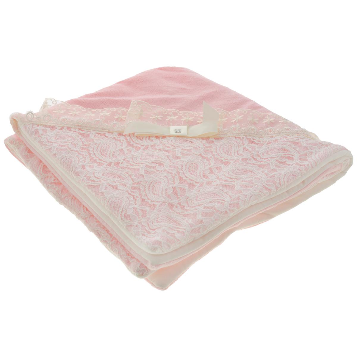 Плед детский Сонный гномик  Праздничный , цвет: розовый, 77 см х 86 см -  Детский текстиль