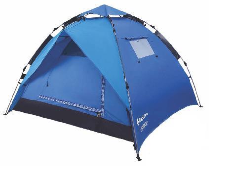 Палатка-полуавтомат KingCamp FLORENCE 2+1, цвет: синий