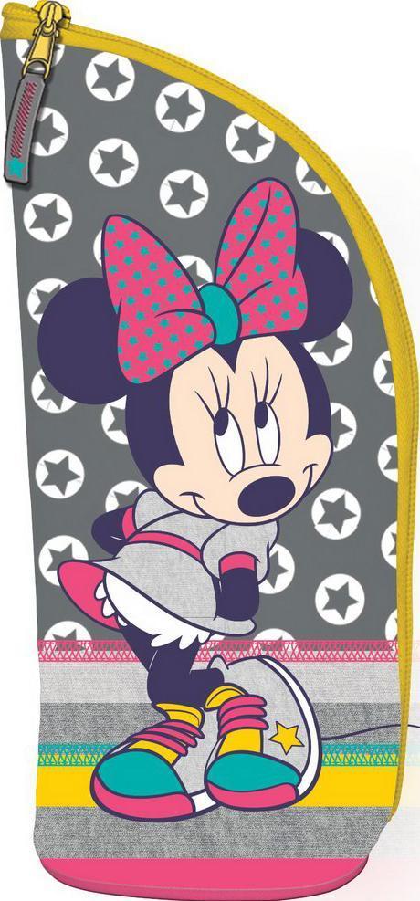 Пенал - подставка. Minnie MouseMMCB-UT1-434Школьный пенал для канцелярских принадлежностей вместит в себя все самое необходимое для учебы. Пенал очень яркий и красочный. Изображения любимых героев мультфильмов поднимут настроение ученику, что тоже немаловажно.Пенал имеет надежный замок-молнию.