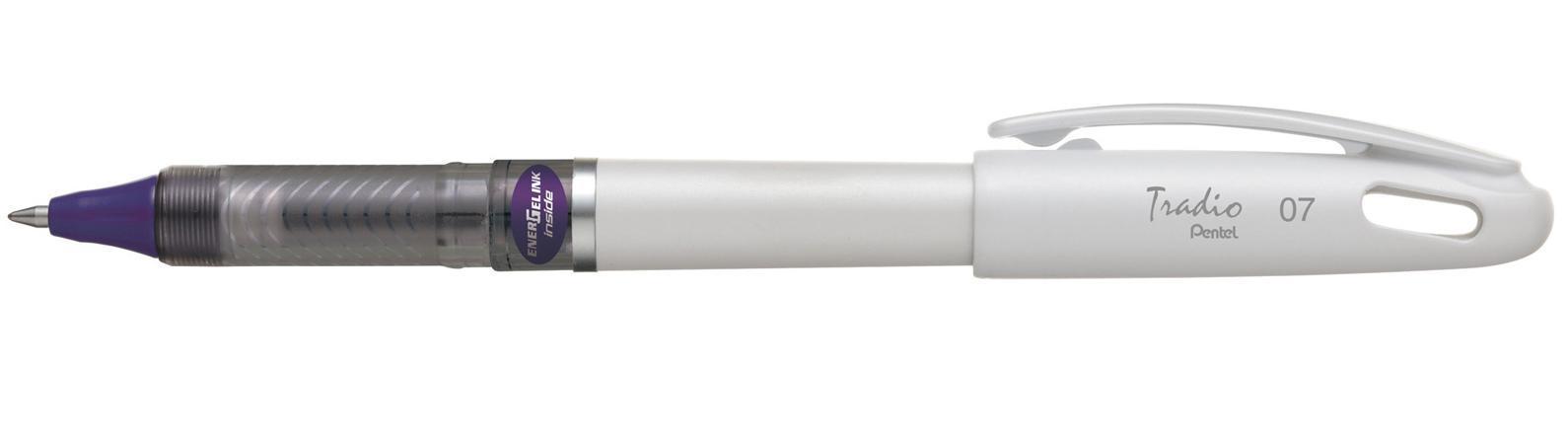 Гелевая ручка TRADIO ENERGEL фиолетов. стержень 0.7мм, белый корпус в блистереPBL117W-VX