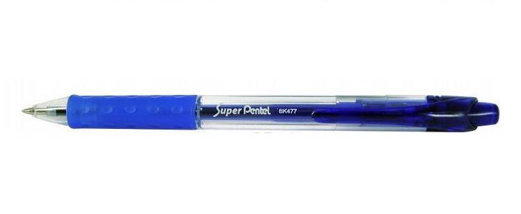 Шар.ручка SUPER PENTEL синий стержень 0.7ммPBK477-C