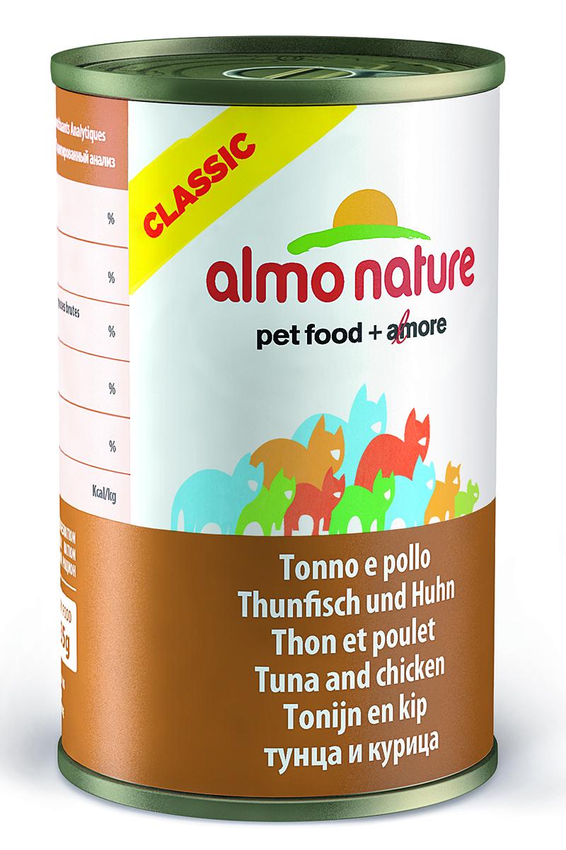 """Консервы для кошек Almo Nature """"Classic"""", с тунцом и курицей, 140 г"""