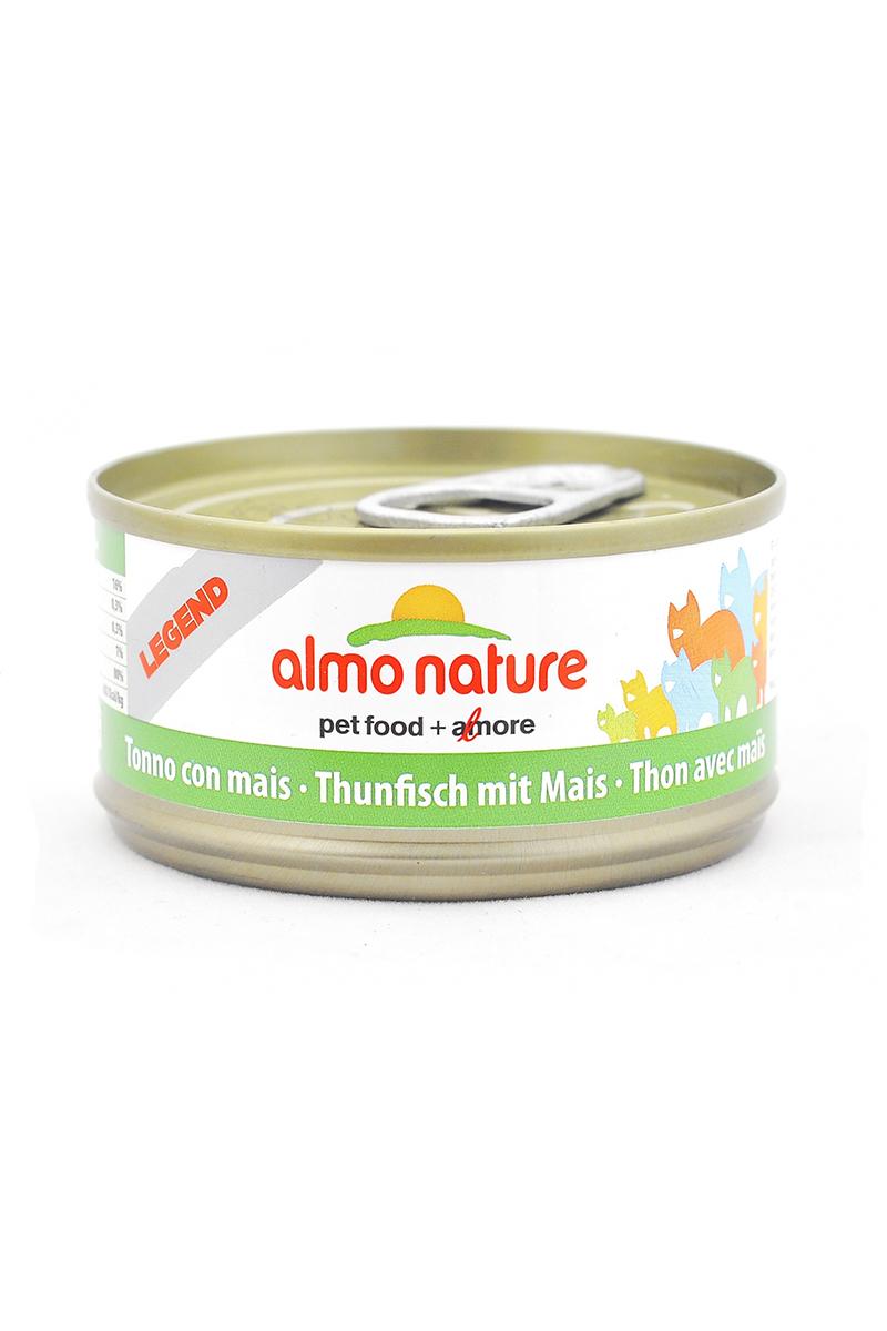 Консервы для кошек Almo Nature Legend, с тунцом и сладкой кукурузой, 70 г20135Консервы Almo Nature - супер-премиум корм для кошек, в банках, сохраняющих свежесть каждого кусочка. Корм изготовлен только из свежих высококачественных натуральных ингредиентов, что обеспечивает здоровье вашей кошки. Не содержит ГМО, антибиотиков, химических добавок, консервантов и красителей.Состав: тунец 70%, рыбный бульон 24%, кукурузное пюре 5%, рис 1%.Пищевая ценность: белки 15%, клетчатка 0.3%, жиры 0.5%, зола 1%, влажность 80%.Товар сертифицирован.