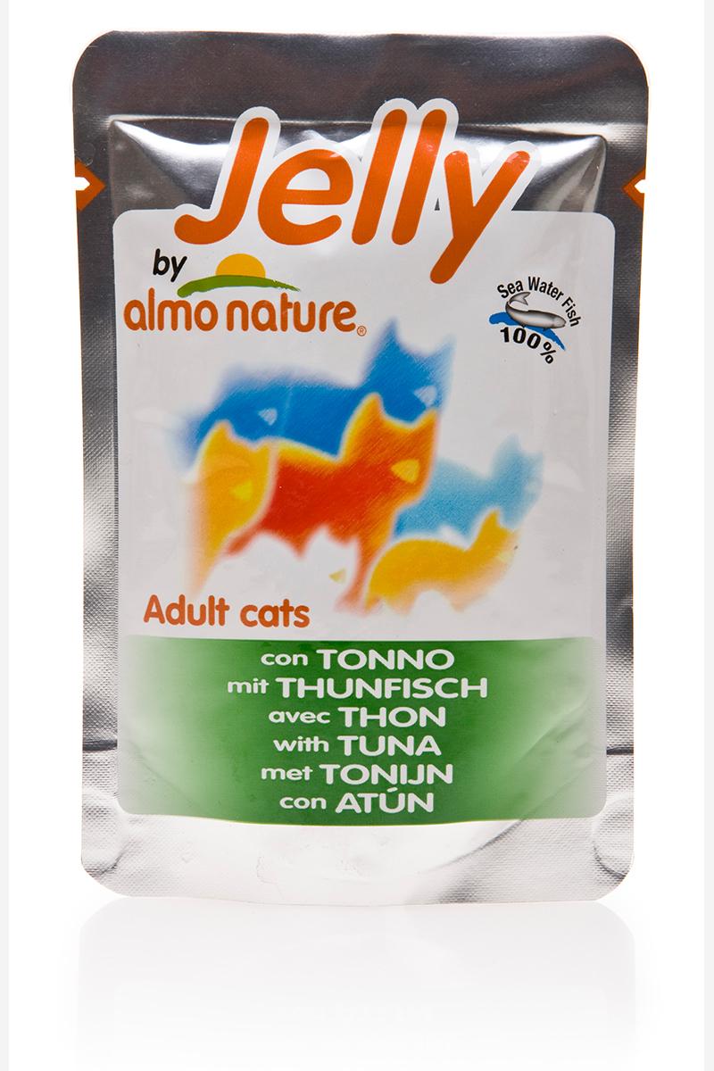 Консервы для кошек Almo Nature Classic, тунец в желе, 70 г влажный корм schesir для кошек тунец 100 гр