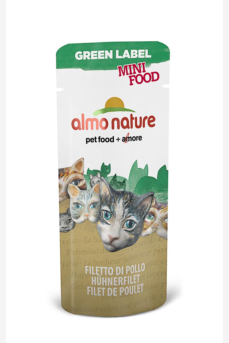 Лакомство для кошек Almo Nature Green Label, куриное филе, 3 г22597Лакомство для кошек Almo Nature - это филе высококачественного мяса курицы, приготовленное в собственном бульоне (24%), без искусственных добавок, красителей. Именно такой простой и естественный состав привлекает кошек. Лакомство идеально подходит для поощрения вашей кошки в интервалах между трапезами.Состав: филе цыпленка - 99%, рис - 1%.Товар сертифицирован.Чем кормить пожилых кошек: советы ветеринара. Статья OZON Гид