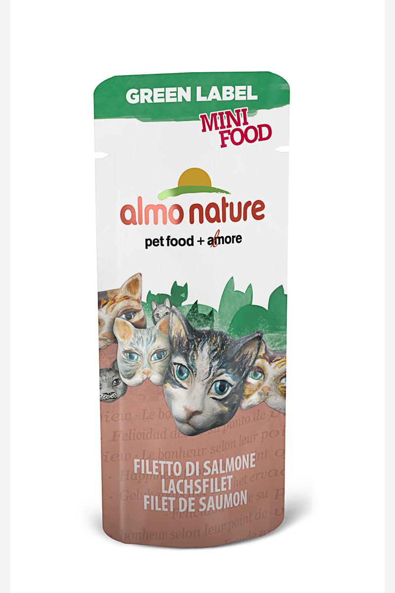 Лакомство для кошек Almo Nature Green Label, филе лосося, 3 г филе форели свежемороженое в кирове