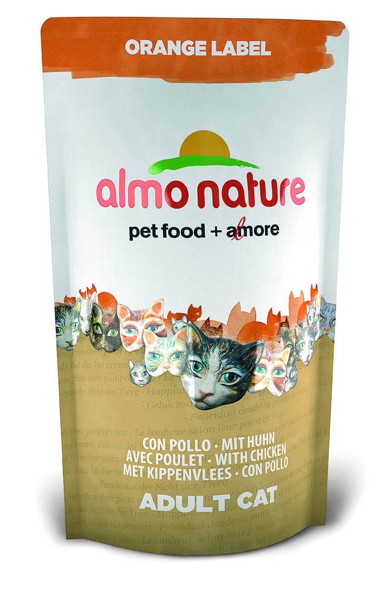 Корм сухой Almo Nature Orange label для кастрированных кошек, с курицей, 750 г23240Полнорационный корм Almo Nature Orange label рекомендован для кастрированных кошек. Корм содержит большой процент свежего мяса, что обеспечивает необходимым количеством питательных веществ и оптимальным содержанием протеина. Прекрасный вкус обеспечивается за счет свежих натуральных ингредиентов. Не содержит искусственных добавок, красителей, ароматизаторов, консервантов. Состав: мясо курицы и ее производные (из которых 28% дегидрированного мяса и 15% свежего мяса), злаки, масла и жиры, экстракт растительного белка, дрожжи, минералы, субпродукты растительного происхождения.Питательные добавки: таурин 0,6 г/кг, L-карнитин 0,11 г/кг, витамин D3 334 МЕ/кг, витамин Е 167 мг/кг, витамин С 84 мг/кг.Микроэлементы: железо 10 мг/кг, медь 0,1 мг/кг, цинк 68 мг/кг, марганец 0,6 мг/кг.Гарантированный анализ: белки – 32,3%, клетчатка – 1,3%, жиры – 14,3%, зола – 8,2%, влажность - 8%.Калорийность: 3602 ккал/кг.Товар сертифицирован.