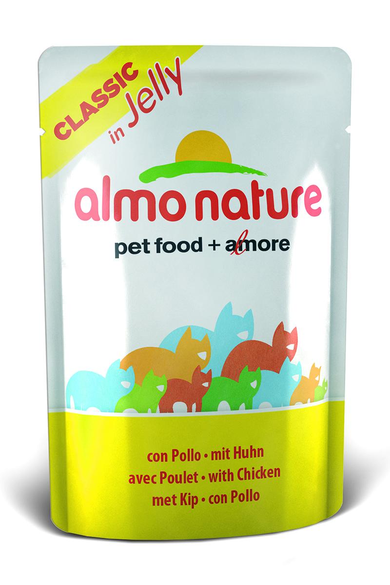 Консервы для кошек Almo Nature Classic, курица в желе, 55 г23411Консервы Almo Nature Classic - премиум корм для кошек. Корм изготовлен только из свежих высококачественных натуральных ингредиентов, что обеспечивает здоровье вашей кошки. Не содержит ГМО, антибиотиков, химических добавок, консервантов и красителей.Состав: курица 45%, куриный бульон в желатине (желе) 54,5%, рис 0,5%.Гарантированный анализ: белки 12%, клетчатка 0,1%, жиры 0,5%, зола 1%, влажность 86%.Товар сертифицирован.