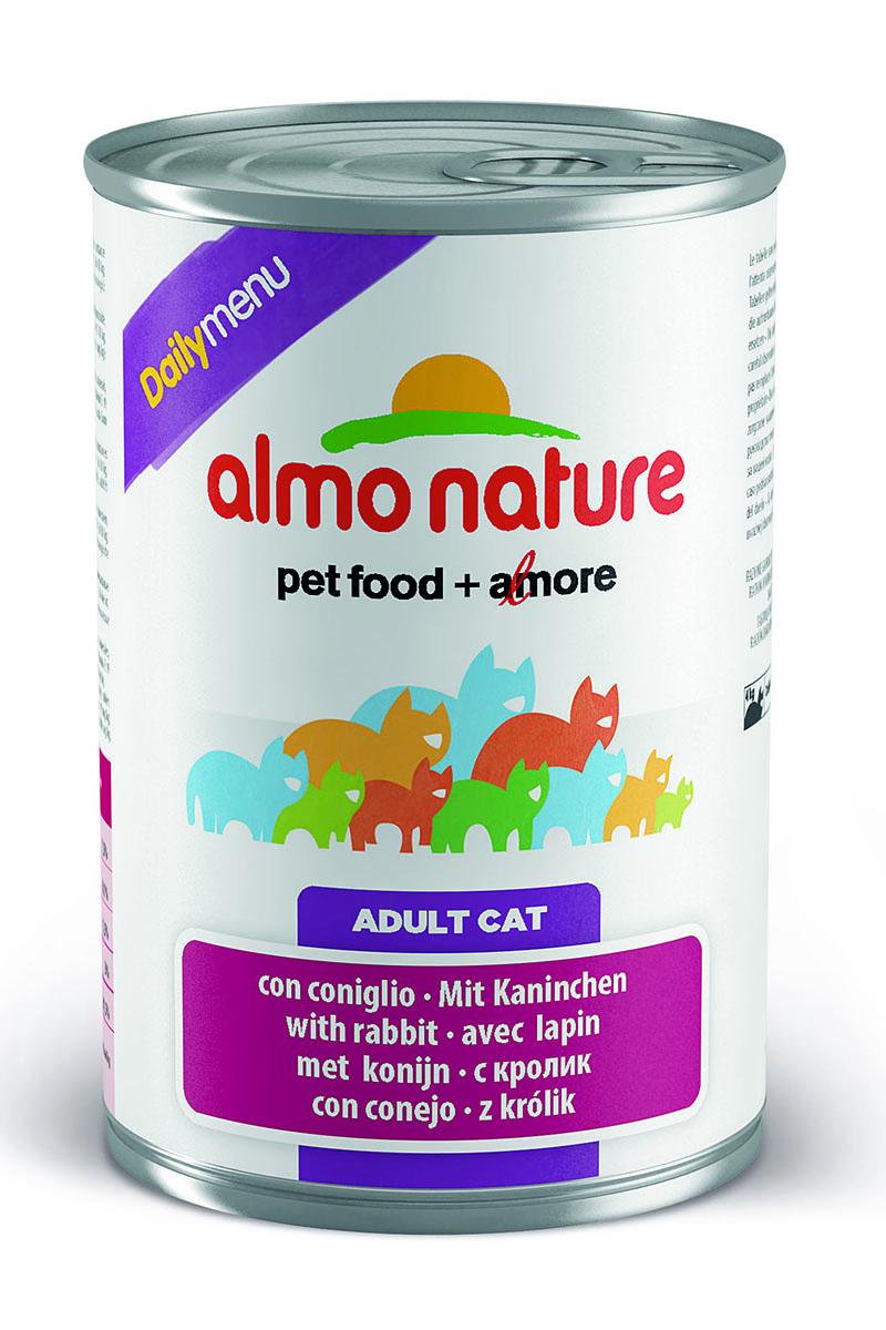 Консервы для кошек Almo Nature Daily Menu, с кроликом, 400 г корм для птиц vitakraft menu vital для волнистых попугаев основной 1кг